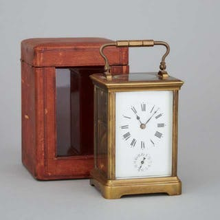 French Carriage Clock with Alarm, c.1900 -