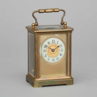 French Carriage Clock, early 20th century -