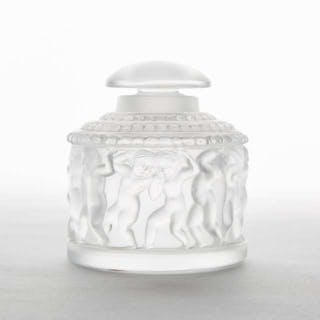 'Enfants' Lalique Moulded and Frosted Glass Perfume Bottle, post-1978 -