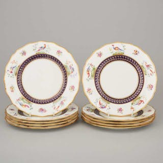 Ten Royal Doulton Dessert Plates, 1902-22 -