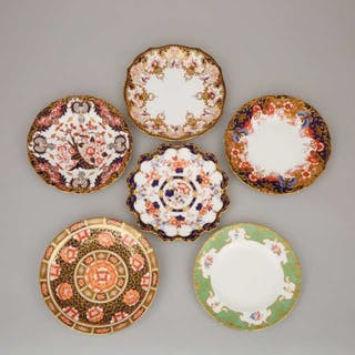 Six Various Royal Crown Derby Plates, 20th century -