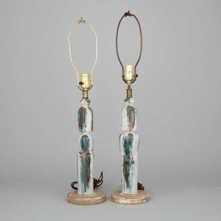 Pair of Marianna Von Allesch Figural Table Lamps, mid-20th century -