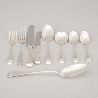 Mainly Canadian Silver 'Old English' Pattern Flatware Service, Henry