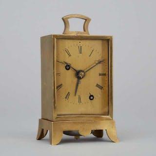 German Carriage Alarm Clock, August Carl Weisse, Dresden, c.1830 -