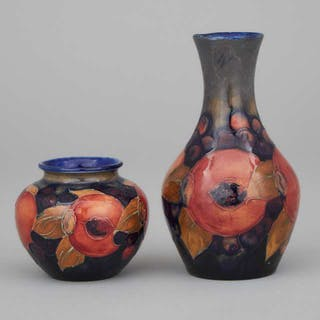 Two Moorcroft Small Pomegranate Vases, c.1925 -