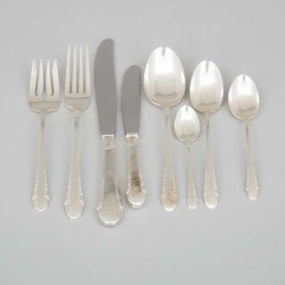 American Silver 'Enchantress' Pattern Flatware Service, International