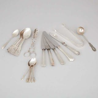 Group of English and North American Silver Flatware Including a Pair