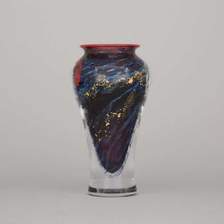 Toan Klein (American/Canadian, b.1949), Internally Decorated Glass Vase, 1996 -