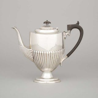 English Silver Coffee Pot, Barker Brothers (Herbert & Frank Barker)