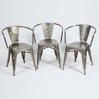 Set of Three Xavier Pauchard (1880-1948) Model A56 Open Armchairs