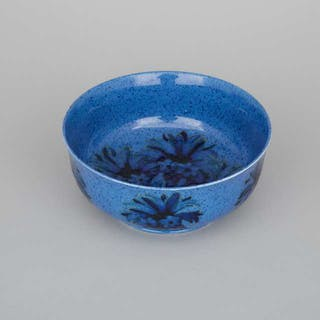 Moorcroft Powder Blue Cornflower Bowl, c.1925 -