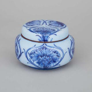 Macintyre Moorcroft Florian Cornflower Tobacco Jar, c.1905 -
