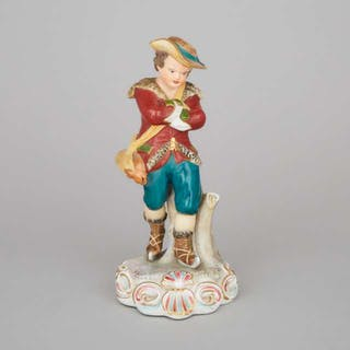 Stevenson & Hancock Derby Figure of 'Winter', late 19th/early 20th century -