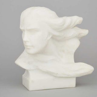 Continental School Marble Head of a Goddess, mid 20th century -