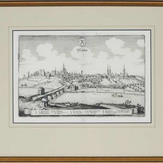 Matthäus Merian (Swiss-German, 1593-1650) - THREE TOPOGRAPHICAL VIEWS