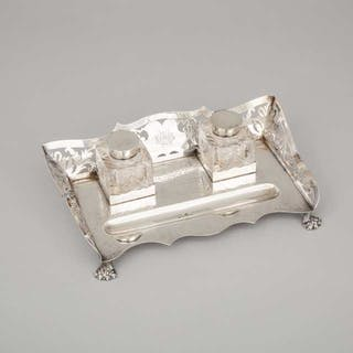 Edwardian Silver Inkstand, William Neale, Chester, 1905 -