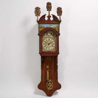 Dutch Oak Staart Clock, 19th century -