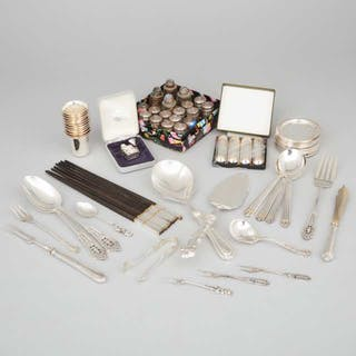 Group of Mainly North American Silver, 19th/20th century -