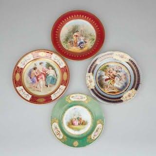 Four Continental Porcelain Cabinet Plates, c.1900 -