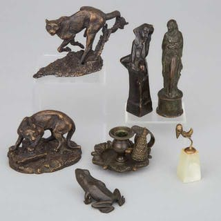 Miscellaneous Collection of Small Continental Bronzes, early-mid 20th century -