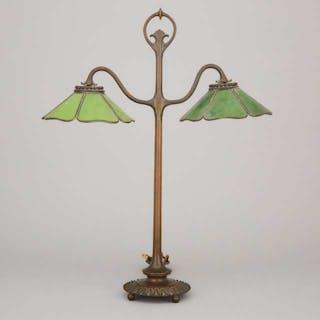 Tiffany Studios Style Bronze Desk Lamp, 20th century -