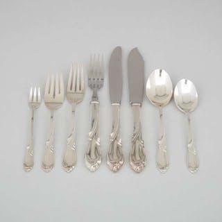 American Silver 'Rhapsody' Pattern Flatware Service, International