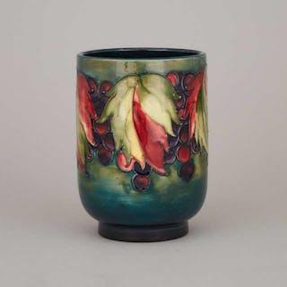 Moorcroft Grape and Leaf Vase, c.1960 -