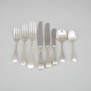 Canadian Silver 'Old English' Pattern Flatware Service, Henry Birks