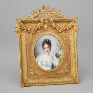 French School Portrait Miniature of Marie Louise, Duchess of Parma