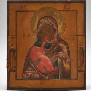 Russian Feodorovskaya Mother of God Icon, early 20th century -