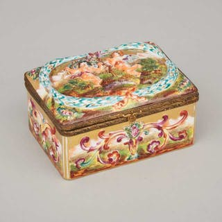 'Naples' Rectangular Casket, late 19th/early 20th century -