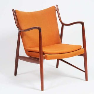 Finn Juhl (1912-1989) for Baker Furniture NV-45 Lounge Chair, mid