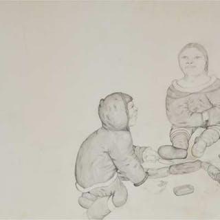 HENRY EVALUARDJUK (1923-2007), Frobisher Bay / Iqaluit  - UNTITLED