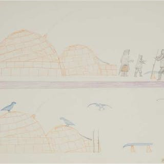 PETER ANINGMIUQ (1913-1986), Cape Dorset / Kinngait - UNTITLED