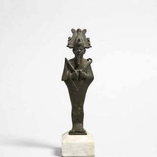 Egyptian Bronze Figure of Osiris, 26th/30th Dynasty, 664-342 B.C. -