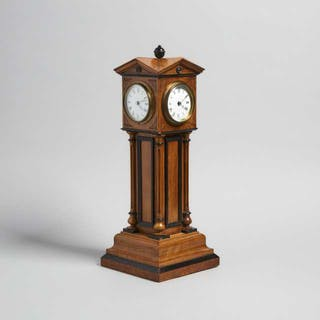 French Model of a Four Dial Tower Clock by Blumberg & Co. for Henry
