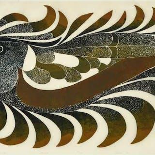 PITALOOSIE SAILA, R.C.A. (b.1942), Cape Dorset / Kinngait - BIRD SPIRIT AT SEA