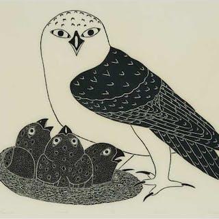KANANGINAK POOTOOGOOK, R.C.A. (1935-2010), Cape Dorset / Kinngait - PROUD OWL