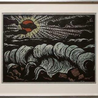 JAKOB STEINHARDT (ISRAELI, 1887-1968)  - UNTITLED (SETTING SUN)