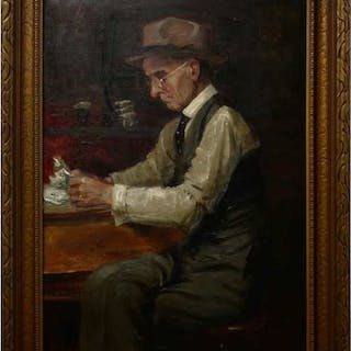 19TH/20TH CENTURY BRITISH    - UNTITLED (THE BANKER)