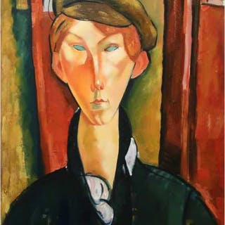 ALEX KORENFELD (RUSSIAN-CANADIAN, 1944-)    - YOUNG MAN WITH CAP