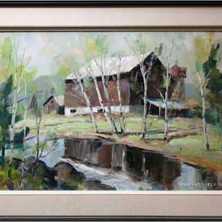 DOUGLAS FERGUSON ELLIOTT (CANADIAN, 1916-2012)    - SPRINGING GREEN