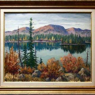 GORDON EDWARD PFEIFFER (CANADIAN, 1899-1983)   - UNTITLED (LAKE REFLECTIONS)