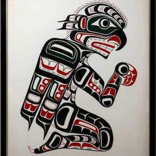 JOHN LIVINGSTON (CANADIAN, 1951-)   - KWAKIUTL HAWK-MAN