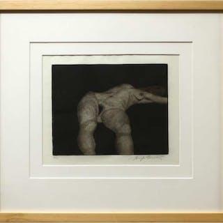 HUGH MACKENZIE (CANADIAN, 1928-)   - STRETCHING MODEL I
