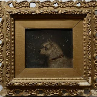 19TH CENTURY    -  PROFILE OF TERRIER DOG