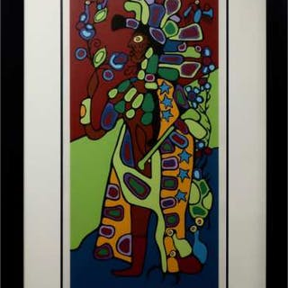 NORVAL MORRISSEAU (CANADIAN, 1931-2007)   - SHAMAN ASTRAL GUIDE II