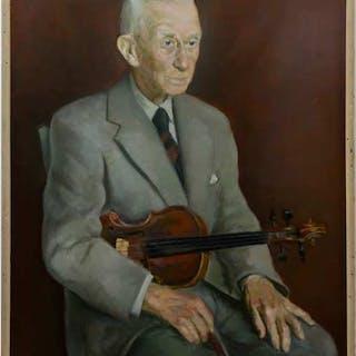 JACK WELDON HUMPHREY (CANADIAN, 1901-1967)  - OLD MUSICIAN (PROF. WM. BOWDEN)