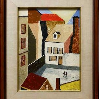 RENE M. VERLEYEN (BELGIUM, 1935-2013)   - THE COURTYARD (RUE DE LA