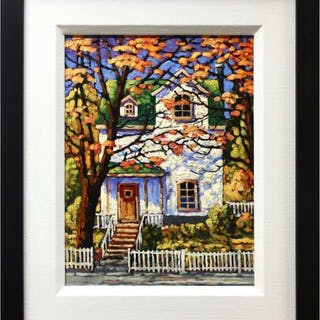 ROD CHARLESWORTH (CANADIAN, 1955-)- HOUSE WITH A GREEN ROOF - NOVA SCOTIA